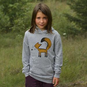 franzi fuchs hoodie grau meliert - Cmig