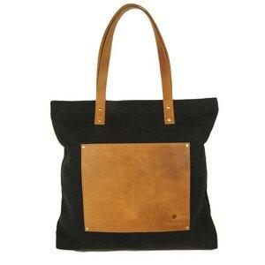 Lou's Big Bag Black Canvas/ Eco Camel - O MY BAG