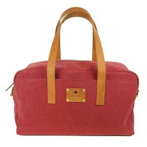 Weekender Burgundy Canvas/ Eco Camel - O MY BAG