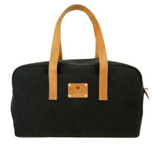 Weekender Black Canvas/ Eco Camel - O MY BAG