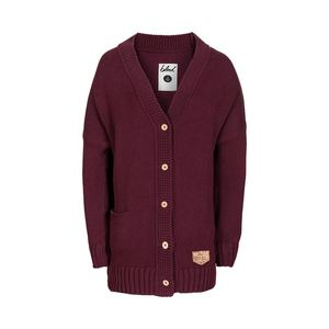 Woody Cardigan Ladies Red - bleed