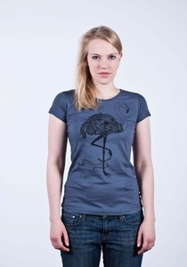 T-Shirt Flamingo Charcoal - Fairliebt.