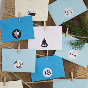 Adventskalender Eisblau - Bow & Hummingbird