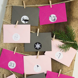 Adventskalender Pink/Graphit - Bow & Hummingbird