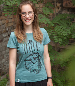 Felix Faultier / Sloth - Frauen T-Shirt - aus Baumwolle Bio - Slub Mint - päfjes