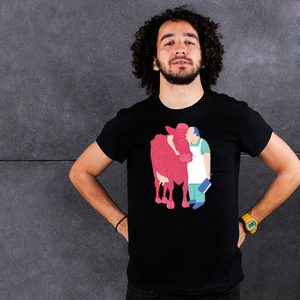 Love Hurts - Bio-Shirt Männer mit Print - Coromandel