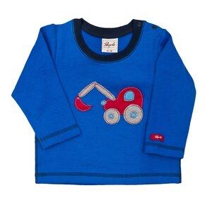 Pullover Blau mit Bagger - People Wear Organic