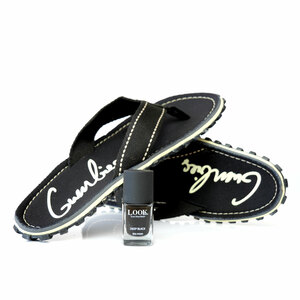 GUMBIES-Set Black mit dem Nagellack Deep Black - GUMBIES