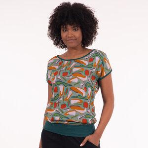 """T-Shirt gemustert aus Lenzing Ecovero Viskose """"Taranee"""" - Chapati Design"""