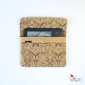 iPad Mini sleeve or clutch with Owl&Pussy cat print - The Wren Design