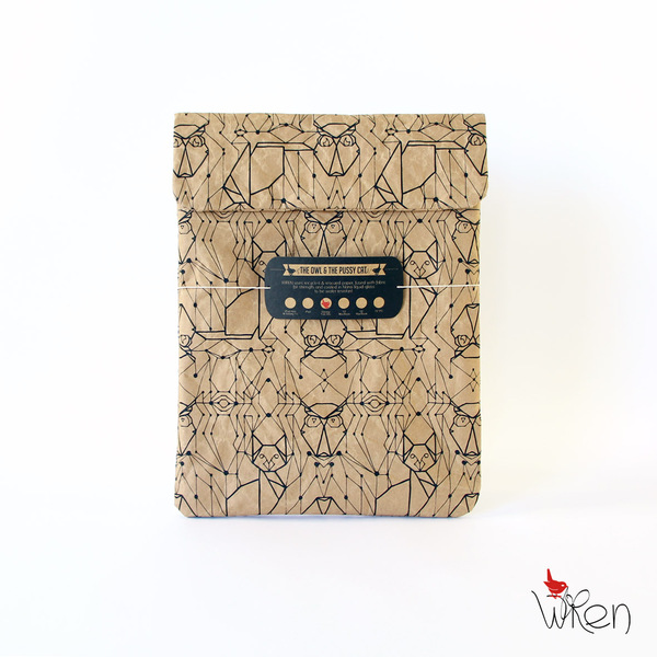 Tablet Sleeve Mit Eulen- & Katzenprint