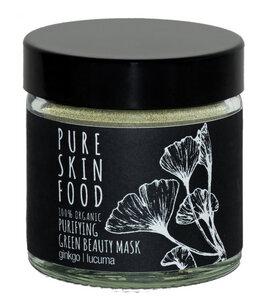 Green Gingko Maske für unreine Haut & Mischhaut - PURE SKIN FOOD