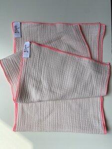 BeachRebelle Musselin Tuch aus Bio Baumwolle mit Neon Kontrastnaht - BeachRebelle