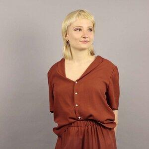 Damen Bluse EDDA mit elegantem Umlegekragen - Passepartout