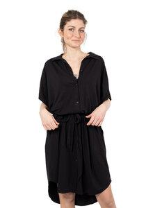 """Damen Kleid aus Bio-Baumwolle und Leinen """"Antonella"""" schwarz - CORA happywear"""
