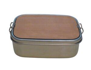 Schneidebrett & Brotdose aus Edelstahl - 1200 ml - ReineNatur