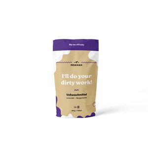 Vollwaschmittel Bergamotte-Lavendel (950g für ca. 28 WL) - Moanah