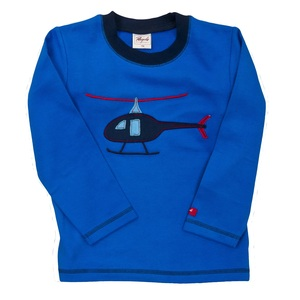 Pullover Blau mit Helikopter - People Wear Organic