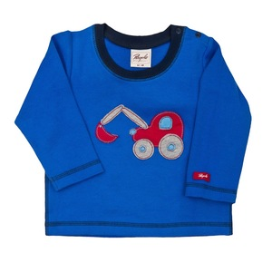 Baby Shirt LA blau mit Applikation Bio-Baumwolle - People Wear Organic
