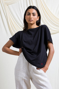 Recyceltes T-Shirt für Frauen aus Baumwolle Loulou - Rifò - Circular Fashion Made in Italy