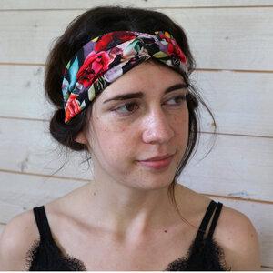 Veganes denkefair Stirnband Blätter JERSEY - denkefair