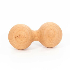 rollholz Doppelkugel - nachhaltiges Faszientraining und Eigenmassage - rollholz