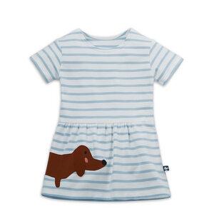 Sommerkleid mit Dackel-Applikation - internaht