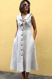 Bio-Baumwoll-Leinen Kleid Aurora - Atelier SNOW
