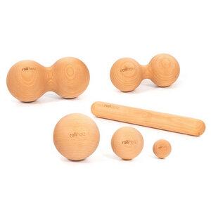 rollholz SET klein (6-teilig) - das Faszien- und Massageset aus Holz - rollholz
