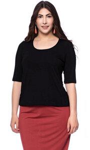 ARCO Basic Shirt mit halblangen Ärmel aus Bambus-Viskose - Ingoria
