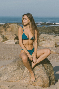 Bikini Top FLOR - PETROL - OCEANCHILD