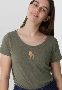 Reine Bio Baumwolle - sehr softes & weiches T-Shirt / petit cactus - Kultgut