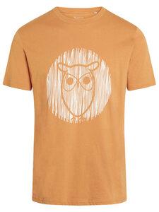 T-Shirt - ALDER outline owl tee - aus Bio-Baumwolle - KnowledgeCotton Apparel