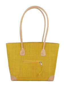 Handtasche VERO aus Palmblattfasern - frosch und rabe