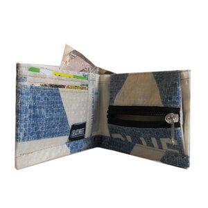 Portmonnaie | Geldbörse recycelt aus Zementsäcken für Damen und Herren - Nyuzi Blackwhite