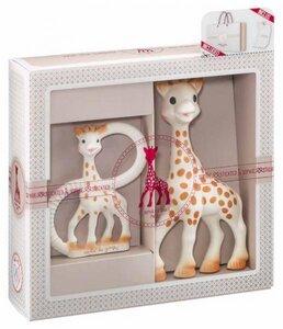 BIRTH SET SMALL NO. 1 - 100% NATURKAUTSCHUK Sophie la Giraffe + Beissring - Vulli