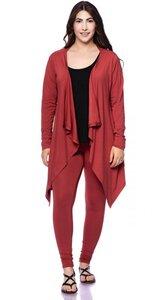 TARA Jersey Jacke mit Zipfelsaum aus Bambus-Viskose - Ingoria