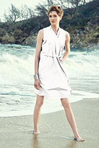 Wickelkleid Helen White - Wickelkleid Damenkleid aus Bio-Baumwolle - Sophia Schneider-Esleben