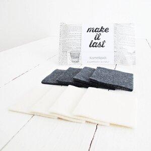 Waschbare Kosmetikpads, 8er-Set aus Baumwolle k.b.A. - make it last