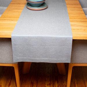 Tischläufer aus 100% Leinen, Leinendenim - nahtur-design