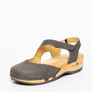 Zirbenschuh mit biegsamer Holzsohle, Vita grey, schwarz oder braun - Zirbenschuh