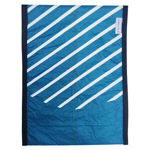 Handgearbeitete Notebook-Tasche / Hülle aus Segeltuch Kitesegel UNIKAT 18-19 Zoll - Beachbreak