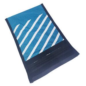 Handgearbeitete Notebook-Tasche / Hülle aus Segeltuch upcycled UNIKAT 12-14 Zoll - Beachbreak