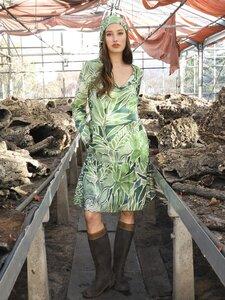 Dress Green Nature Garden - like a bird