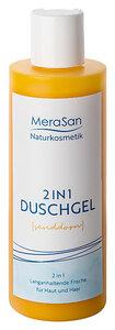 MeraSan veganes Duschgel 2in1 Natural Sanddorn für Haut & Haar - 200ml - MeraSan