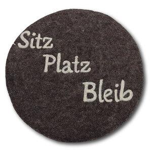 "Filzkissen rund Ø 35 cm ""Sitz Platz Bleib"" - Frida Feeling"