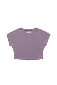 Cropped T-Shirt Emma aus Bio-Baumwolle - l'amour est bleu