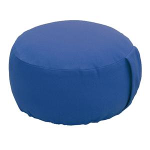 Lotus Design® Meditationskissen  BASIC-BIO blau Höhe 14 cm,kbA Buchweizenschalenfüllung - Lotus Design®