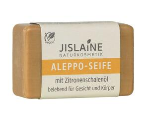 Aleppo-Seife mit Zitronenschalenöl 100g - Jislaine Naturkosmetik