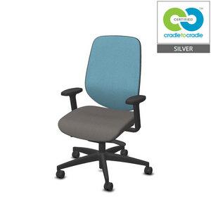 C2C Giroflex Bürodrehstuhl mit Armlehnen - Giroflex